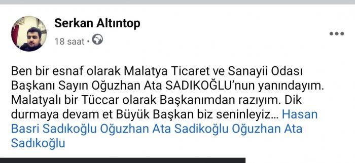 Başkan Sadıkoğlu'na her kesimden destek yağıyor