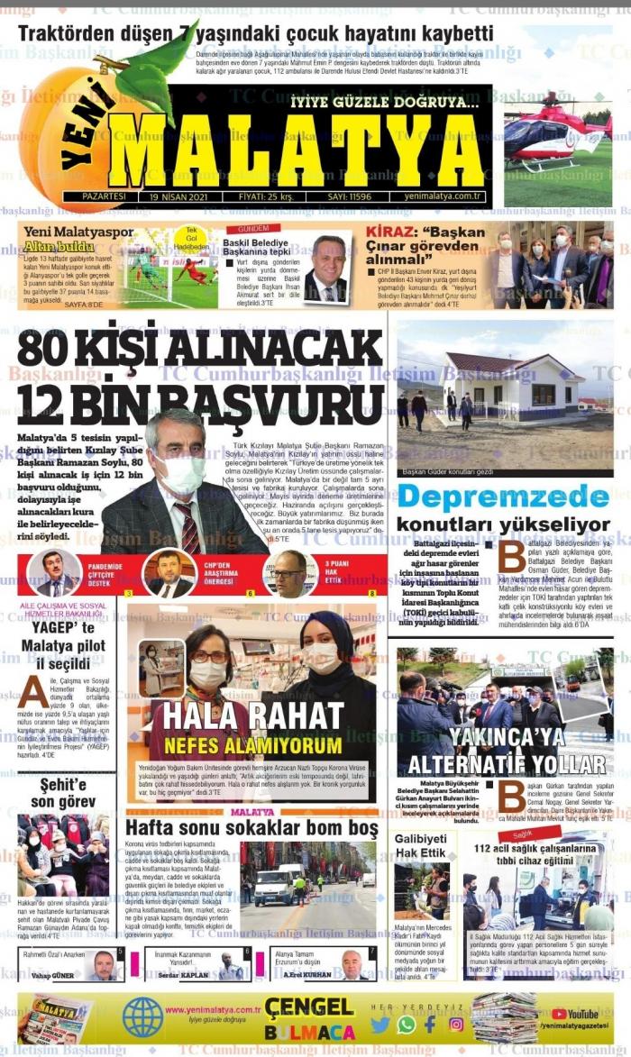 Malatya'da bugünkü gazete manşetlerinde neler var