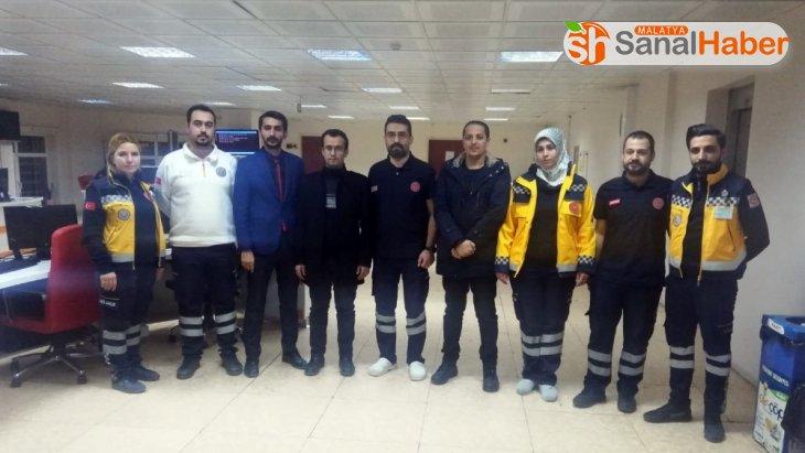 Malatya'da 112 çalışanları deprem anında görev yerlerini terk etmedi