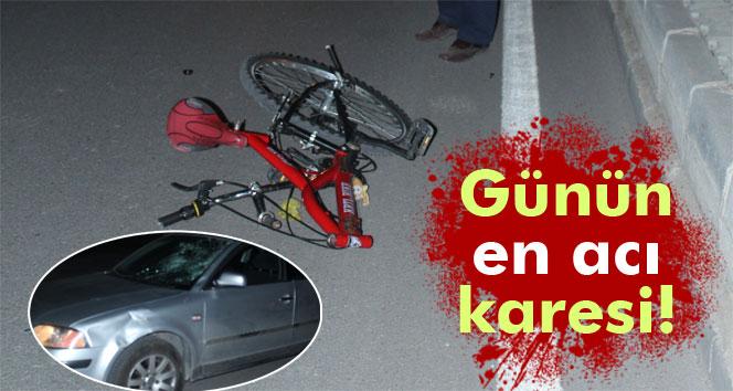 Otomobilin çarptığı bisikletli çocuk öldü