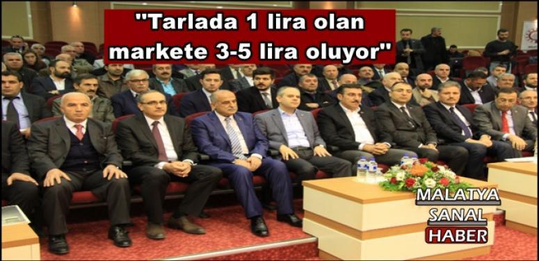 Bakan Tüfenkci,''Tarlada 1 lira olan  markete 3-5 lira oluyor''