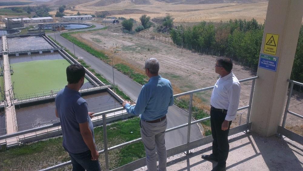 Çevre ve Şehircilik Müdürü Kandemir atıksu arıtma tesisini inceledi
