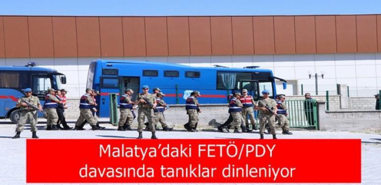 Malatya'daki FETÖ/PDY davasında tanıklar dinleniyor