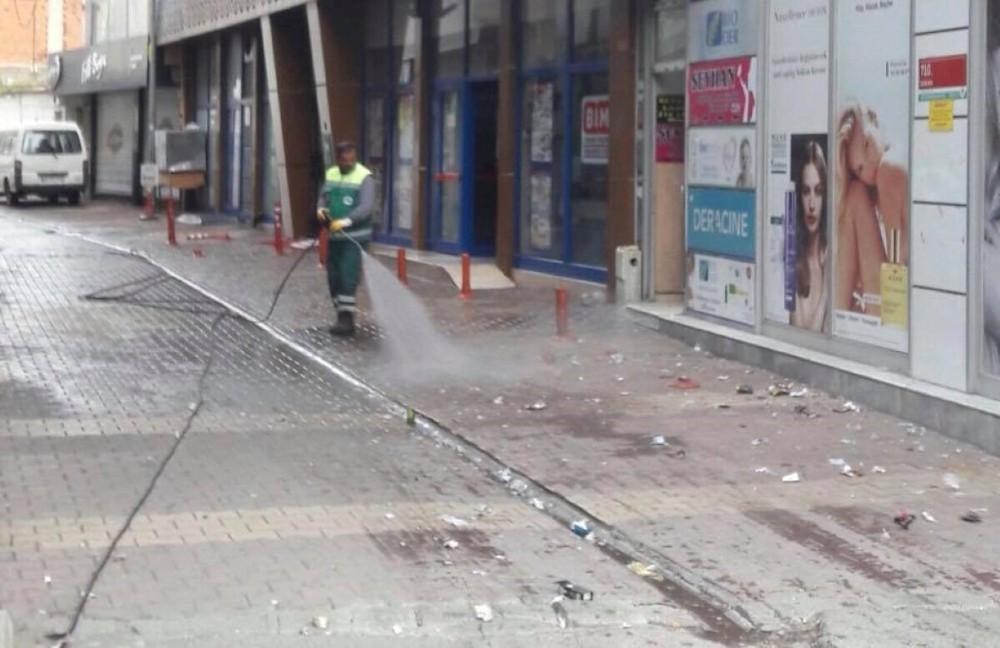Şehir genelinde temizlik çalışması yapıldı