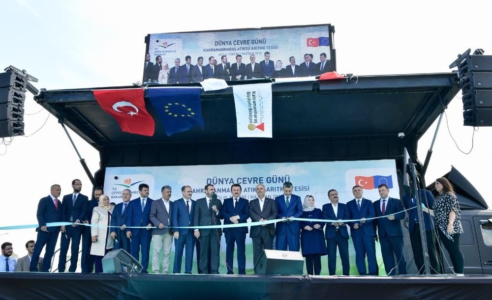 Kahramanmaraş'ta atıksu arıtma tesisi açıldı