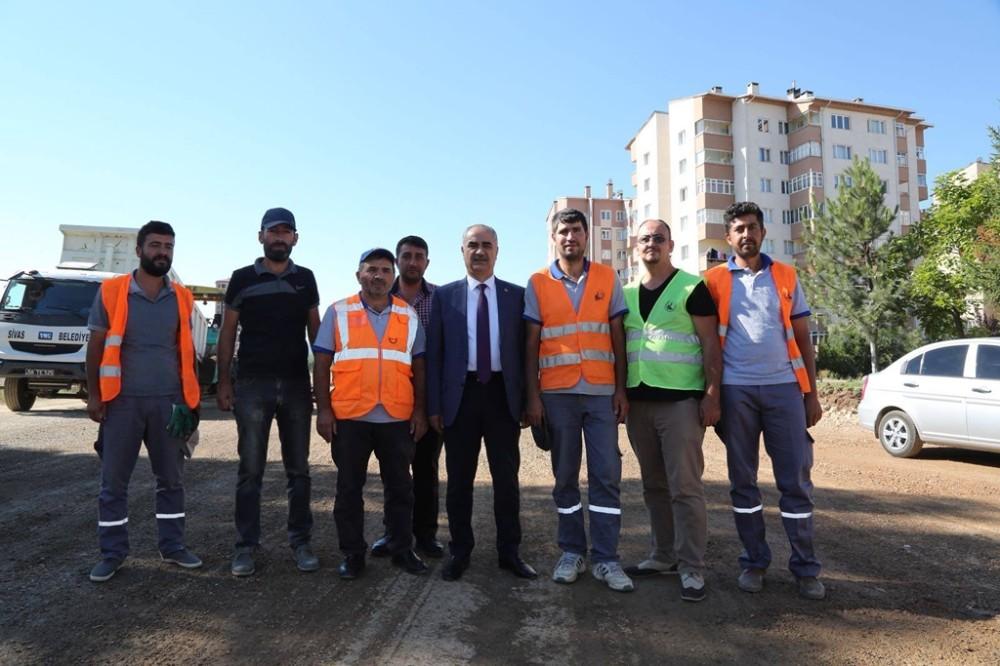 Recep Tayyip Erdoğan Bulvarı'nda çalışmalar sürüyor