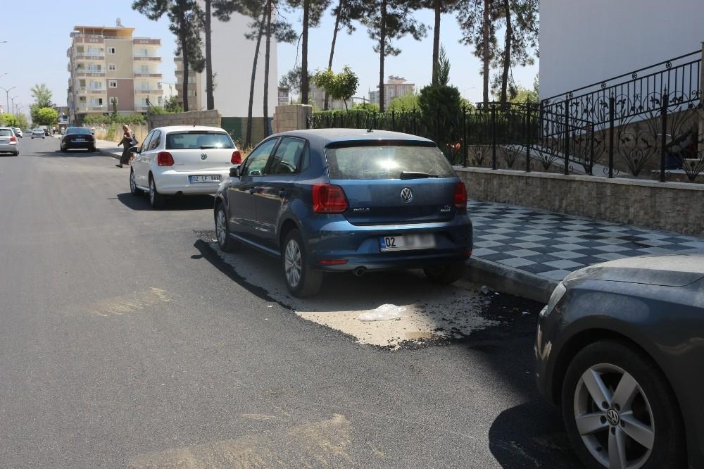 Adıyaman'da fıkra gibi asfaltlama