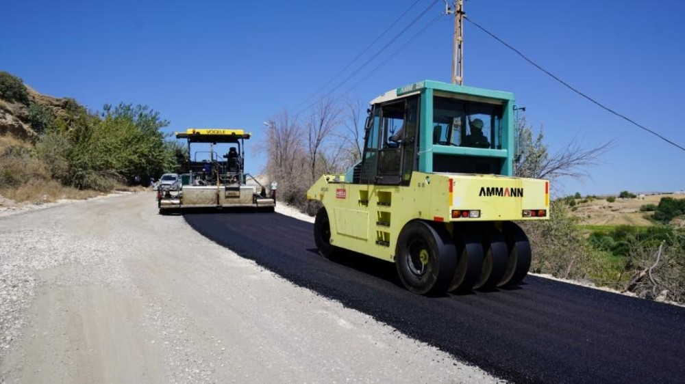 Atıksu arıtma tesisi yolu asfaltlandı