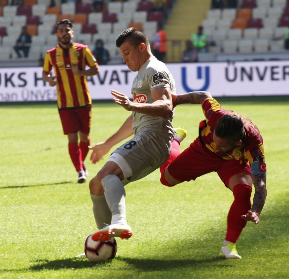 Spor Toto Süper Lig:  Evkur Yeni Malatyaspor: 1 - Çaykur Rizespor: 0 (İlk yarı)