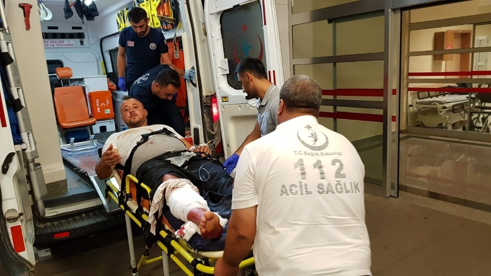 Kavgada silahla vurulan şahıs hastaneye kaldırıldı