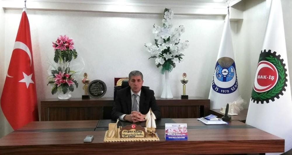 """Hak-İş Başkanı Kılınç: """"Üyelerimizin refah seviyesini yükselteceğiz"""""""