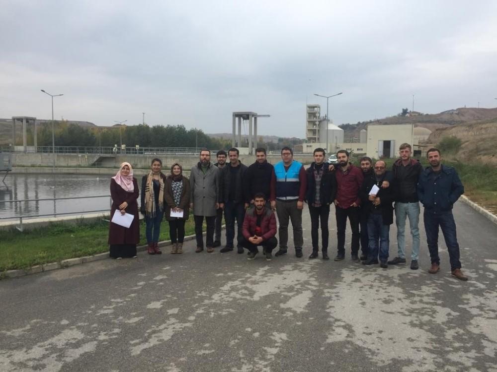 Üniversite öğrencileri Adıyaman atık su arıtma tesisine teknik gezdi