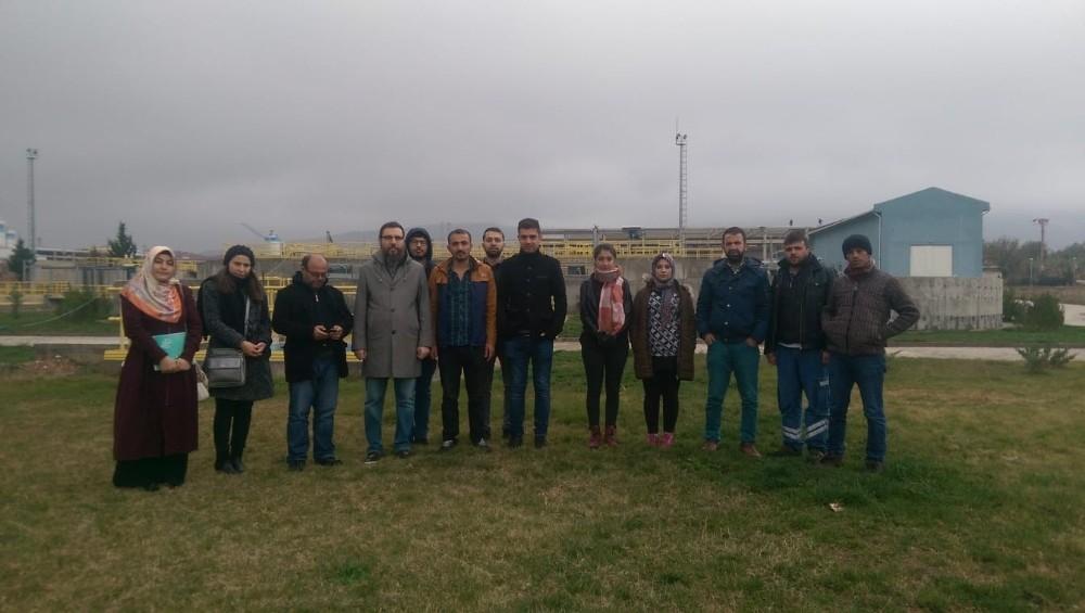 Öğrenciler atık su arıtma tesisini inceledi