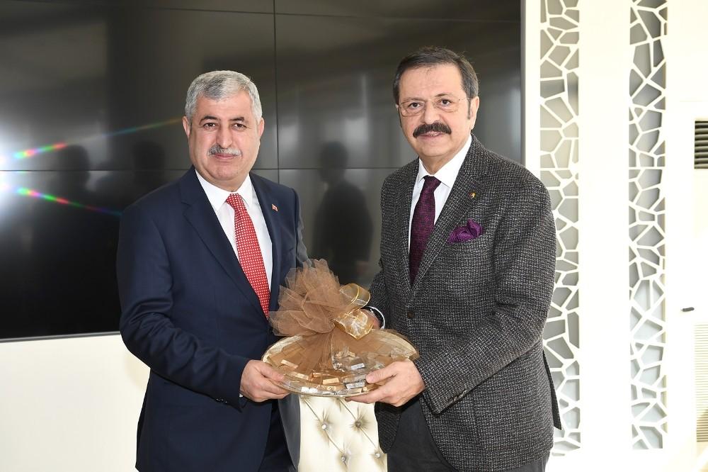 TOBB Başkanı Hisarcıklıoğlu'ndan  Polat'a ziyaret