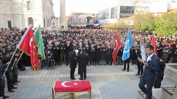 Malatya'da Fırat Yılmaz Çakıroğlu İçin Protesto