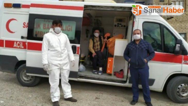 Malatya'da 73 yaşındaki KOAH hastası korona virüsü yendi