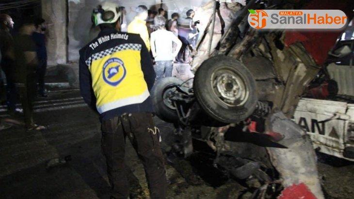 Afrin'de SMO komutanın aracına yerleştirilen bomba patladı: 2 yaralı