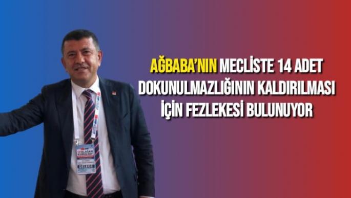 Ağbaba'nın mecliste 14 adet dokunulmazlığının kaldırılması için fezlekesi bulunuyor