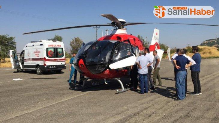 Ambulans helikopter kanser hastası için havalandı
