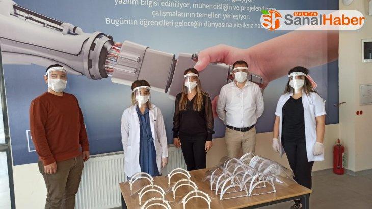 Bahçeşehir Kolejinden sağlıkçılara siperlik desteği