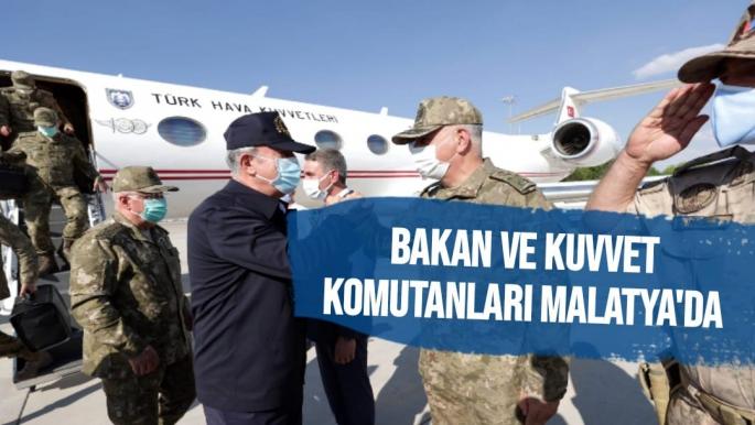 Bakan ve kuvvet komutanları Malatya'da