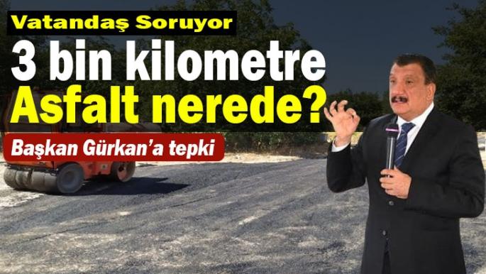 Başkan Gürkan'a tepki