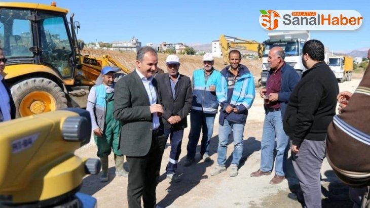 Başkan Kılınç, millet caddesindeki çalışmaları yerinde inceledi