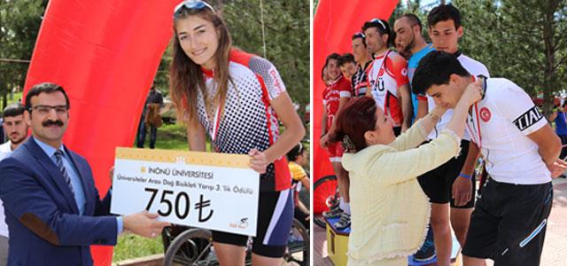 Üniversitelerarası Dağ Bisiklet Yarışı Yapıldı
