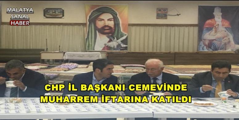 CHP İL BAŞKANI ENVER KİRAZ CEMEVİNDE MUHARREM İFTARINA KATILDI
