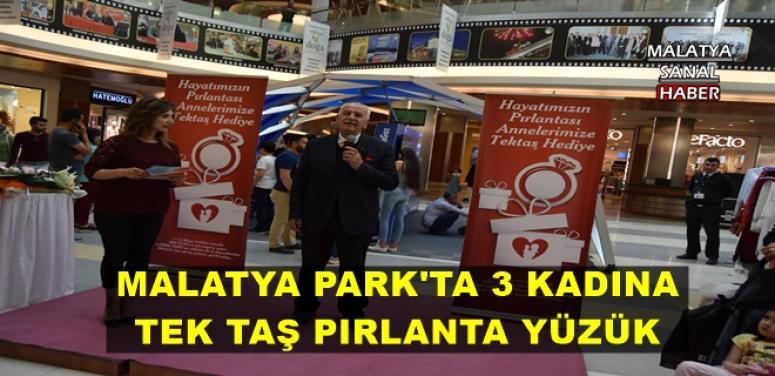MALATYA PARK'TA 3 KADINA TEK TAŞ PIRLANTA YÜZÜK