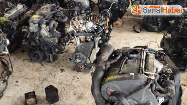 Çok sayıda gümrük kaçağı araç motoru ele geçirildi