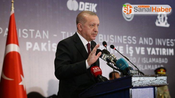 Cumhurbaşkanı Erdoğan: 'Pakistan'la ticari ve ekonomik bağlarımızı siyasi münasebetlerimizin seviyesine çıkarmak istiyoruz'