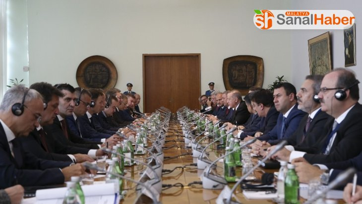 Cumhurbaşkanı Erdoğan, Türkiye-Sırbistan Yüksek Düzeyli İşbirliği Konseyi toplantısına katıldı