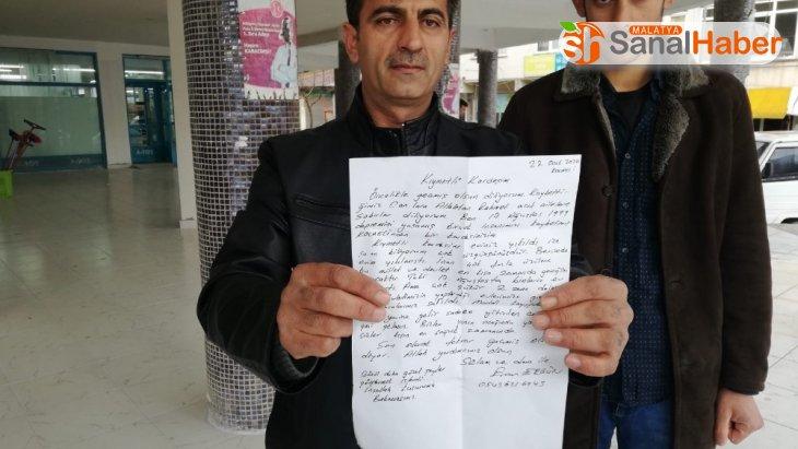 Depremzedenin, depremi yaşayan Elazığ'a gönderdiği mektup duygulandırdı