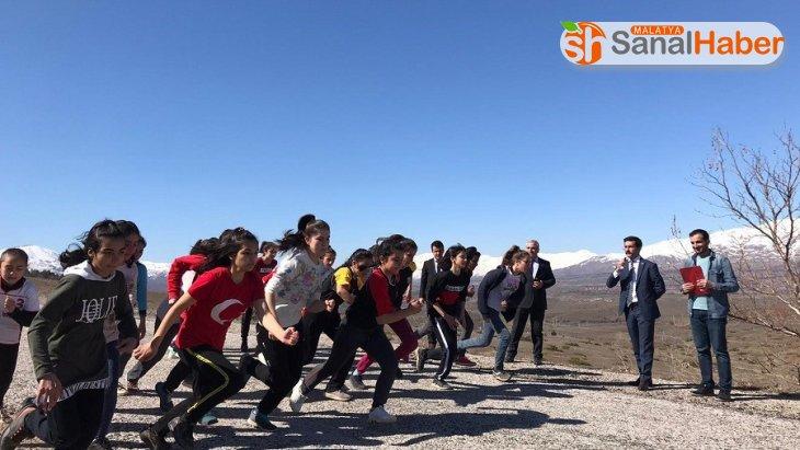Doğanşehir'de kros yarışması yapıldı