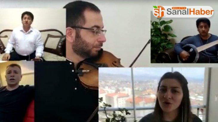 Elazığ'da öğretmen ve öğrencilerden 'Evde kal' klibi