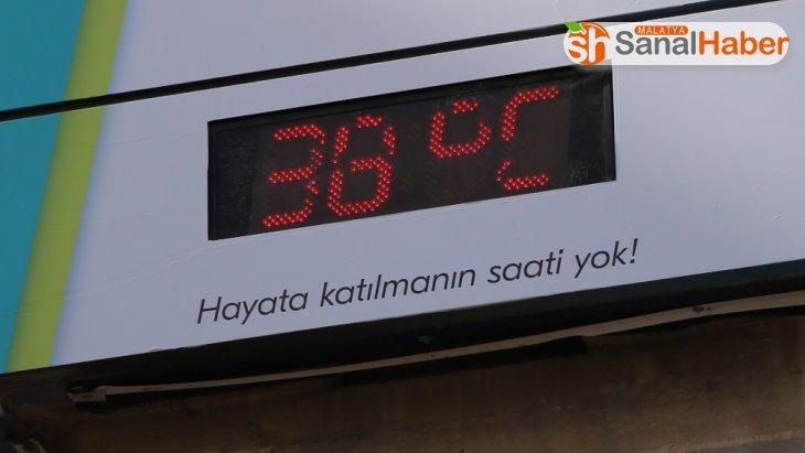 Elazığ'da termometreler 38 dereceyi gösterdi