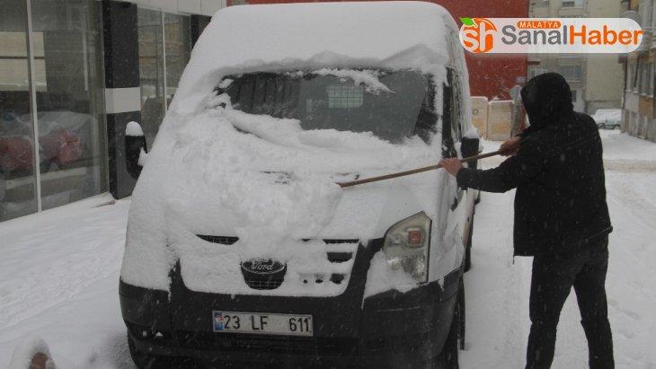 Elazığ'da yoğun kar nedeniyle hamile ve engellilere idari izin