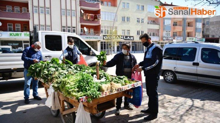 Elbistan Belediyesi'nden seyyar satıcılara destek