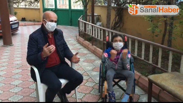 Engelli çocuktan korona virüsün bitmesi için duygulandıran dua