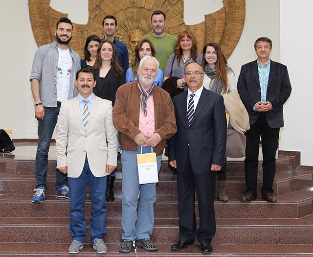 Kısa Film Festivali Jüri Üyeleri Rektör Prof. Dr. Cemil Çelik'i Ziyaret Etti