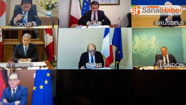 G7 Dışişleri Bakanları Toplantısında koronaya karşı iş birliği vurgusu