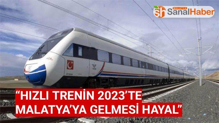 Hızlı Trenin 2023'te Malatya'ya Gelmesi Hayal
