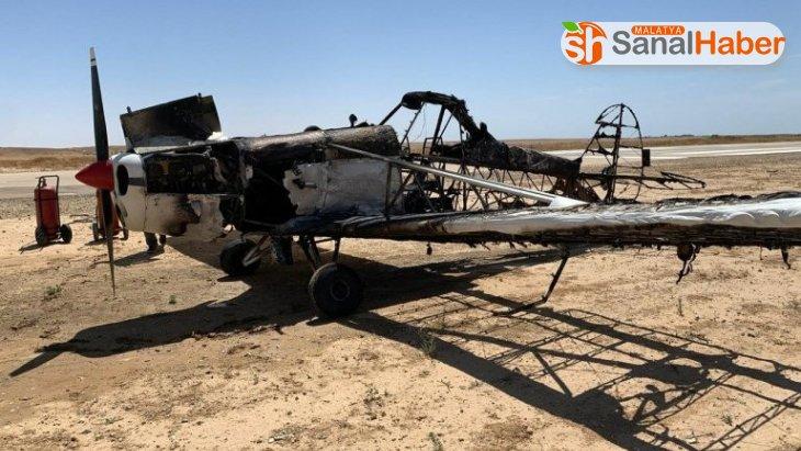 İsrail'de acil iniş yapan küçük uçak alev aldı: 1 yaralı