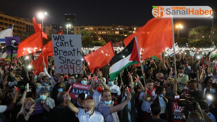 İsrailliler 'ilhak' planının protesto etti