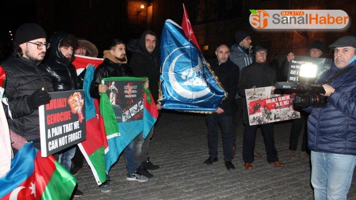 İsveç'te Hocalı katliamının 28. yıl dönümünde yürüyüş düzenlendi