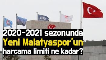 2020-2021 sezonunda Yeni Malatyaspor'un harcama limiti ne kadar?