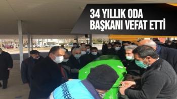 34 yıllık Oda Başkanı Mehmet Özpolat vefat etti