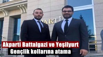 Akparti Battalgazi ve Yeşilyurt Gençlik kollarına atama