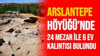 Arslantepe Höyüğü´nde 24 mezar ile 6 ev kalıntısı bulundu